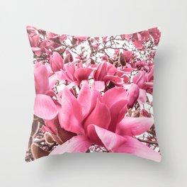 Mellow Magnolia Throw Pillow