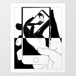 iFail White + Jet Black inverse (Picture This!) Art Print