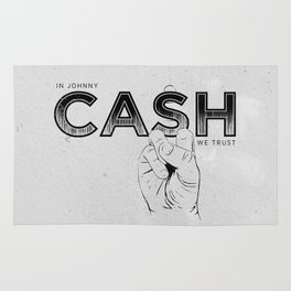 In Johnny Cash We Trust. Rug