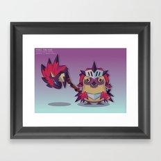 Pixel the Monster Hunting Pug Framed Art Print