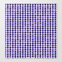 small pyramids pattern in Mysterious blues Canvas Print