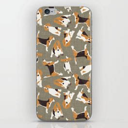 beagle scatter stone iPhone Skin