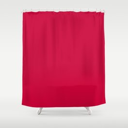 Cool Caddy ~ Fire Engine Red Shower Curtain
