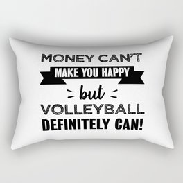 Volleyball makes you happy Funny Gift Rectangular Pillow