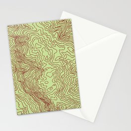 Horsetooth Topography USGS Colors Stationery Cards