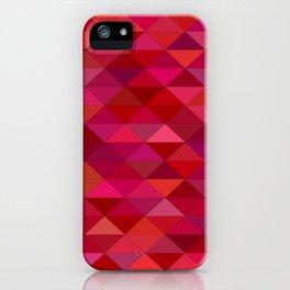 maroon dark red triangle mosaic iPhone Case