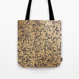Gold foil swirls damask #11 Tote Bag
