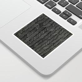 Herringbone Cream on Black Sticker