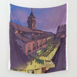 Medieval Fair (color) Wall Tapestry