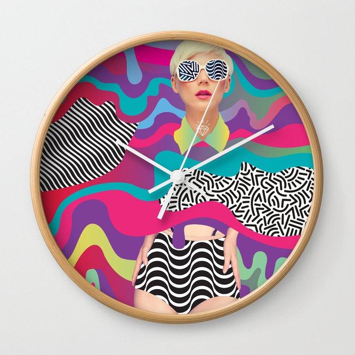 Lava Girl Wall Clock