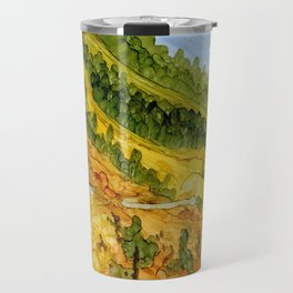 Autumn Mountain Path Travel Mug