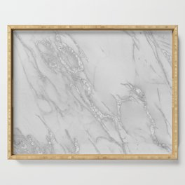 Marble Love Silver Metallic Serving Tray