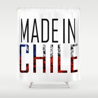 chile Shower Curtains featuring Made In Chile by VirgoSpice