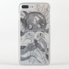 Skulls and Tentacles Clear iPhone Case