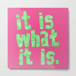 what it is pink square Metal Print
