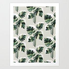 Cat and Plant 11 Pattern Art Print