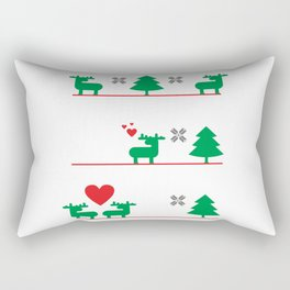 Ugly Christmas Deer love story #society6 #decor #buyart #artprint Rectangular Pillow