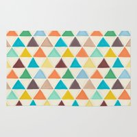 portland Area & Throw Rugs featuring Portland triangles by Sharon Turner