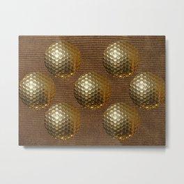 GOLDEN GOLF BALLS Metal Print