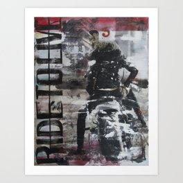 Ride to Live Art Print