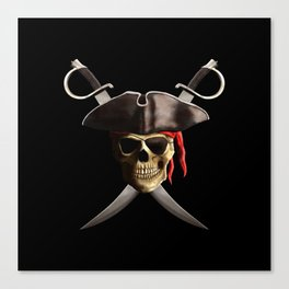 Pirate Skull And Swords Canvas Print
