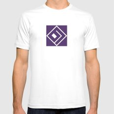 Basslock Logo (Purple) White Mens Fitted Tee MEDIUM