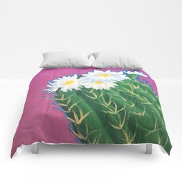 Cactus Blossoms Comforters