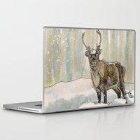 reindeer Laptop & iPad Skins featuring Reindeer by Meredith Mackworth-Praed