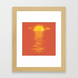 Cooling Down Framed Art Print