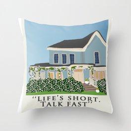 Gilmore house in spring Throw Pillow