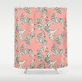 Pink Tiger Pattern 006 Shower Curtain