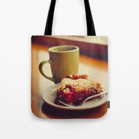 pie Tote Bags featuring Pie by Jo Bekah Photography