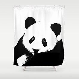 Giant Panda in Black & White Shower Curtain