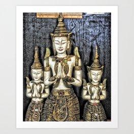 3 Buddhas Art Print