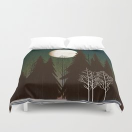 Into The Winter Woods Duvet Cover