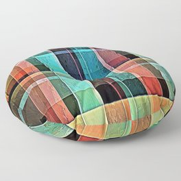Plaid 17 Floor Pillow