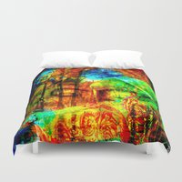 meditation Duvet Covers featuring  Meditation by shiva camille
