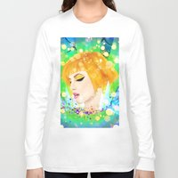 hayley williams Long Sleeve T-shirts featuring Digital Painting - Hayley Williams by EmmaNixon92