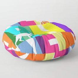 WEIMARANER COLOURS 2 Floor Pillow