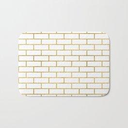 Gold Subway Tiles Bath Mat