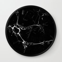 Winter Marble Black Wall Clock