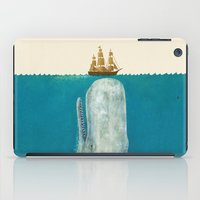 sea iPad Cases featuring The Whale - colour option by Terry Fan