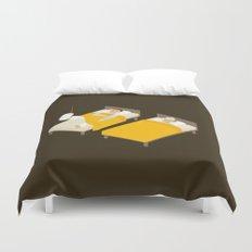 Sick In Bed Duvet Cover