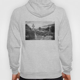 Halloween Graveyard | Horror | Black and White Cemetery | Gothic Graves | Hoody