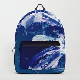Snowy Abstract Painting Backpack