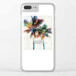 Colorful Palm Trees - Returning Home - By Sharon Cummings Clear iPhone Case
