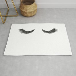 Lashes Black Glitter Mascara Rug