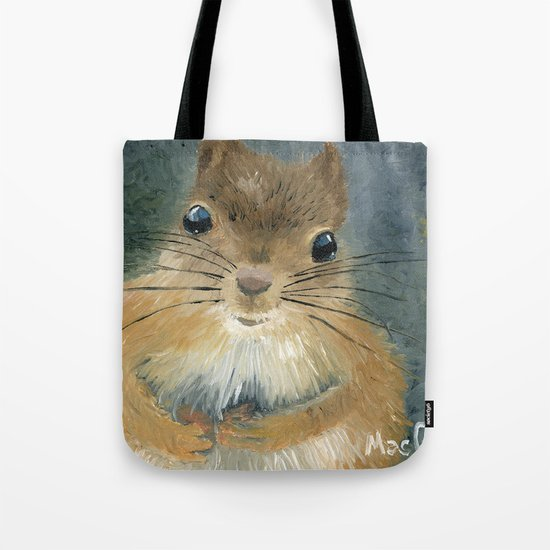 Last Nut for my Squirrel Tote Bag