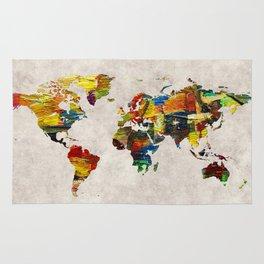 World Map 44 Rug