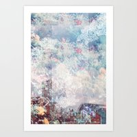 double exposure sky. Art Print